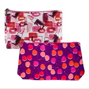 Lot of 2 Clinique Cosmetic Bags